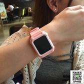 蘋果錶帶 MOMO優品適用蘋果apple watch3錶帶一體保護殼iwatch2腕帶塑料 雙11