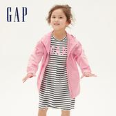 Gap女幼童 簡約風格拉鍊連帽外套 540833-俏皮粉色