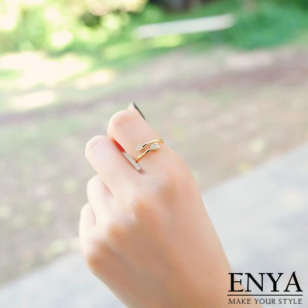 愛神的箭水鑽戒指 Enya恩雅(正韓飾品)【RIAW6】