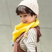 春秋薄款冬季兒童圍巾男童女童仿羊絨保暖三角巾韓版潮寶寶圍脖女