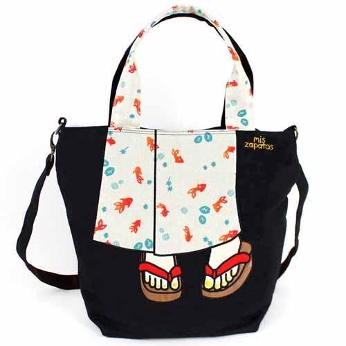 日本直送 Mis zapatos 春夏新品 浴衣 夾腳拖/木屐 2way 手提包/斜背包 該該貝比日本精品 ☆