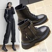 馬丁靴女英倫風2020年新款潮ins加絨秋鞋冬季厚底短靴子春秋單靴 3C優購
