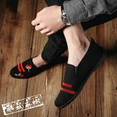 休閒鞋豆豆鞋 夏季帆布鞋男鞋子正韓透氣百搭豆豆鞋精神小伙老北京布鞋