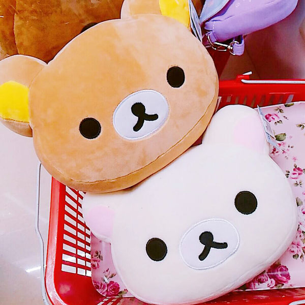 懶懶熊拉拉熊懶妹枕頭抱枕靠枕玩偶絨毛娃娃頭型妹574821熊574821通販屋