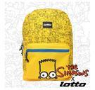 限量商品~LOTTO 辛普森聯名 Simpsons 經典後背包(黃) LT5CMB7504 現貨