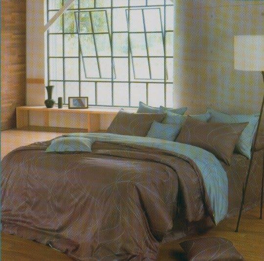 雙人加大6*6.2尺-台灣製造精品 POLO-6309  精梳棉五件式床罩組