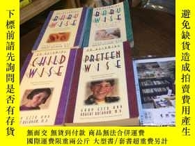 二手書博民逛書店4本合售:英文原版罕見on becoming baby wise + baby wise 2 + child wi