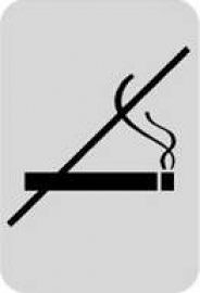 迪多deflect-o  610810S  禁止吸煙-鋁質方形貼牌 / 個