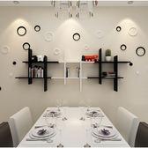 客廳背景墻面創意格子隔板餐廳壁掛臥室裝飾墻上置物架  LVV8813【雅居屋】TW