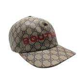 【台中米蘭站】全新品 GUCCI Bontique logo Supreme 帆布棒球帽(624478-烏木)