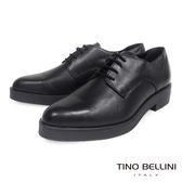 Tino Bellini 義大利進口中性品味真皮尖楦綁帶皮鞋(黑)_TF4302A ★2016AW 歐洲進口款★