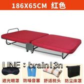 辦公室午休床折疊床家用單人午睡床木板床加厚海綿床陪護床雙人床【熱銷88折】