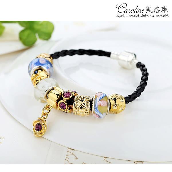 《Caroline》★【眼光獨到】韓風優雅時尚品味典雅設計潘朵拉琉璃珠手鍊68585