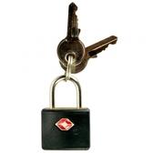 TSA 鑰匙海關認證密碼鎖 #0126 黑