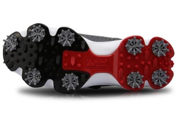 高爾夫男士球鞋 防水透氣 活動釘鞋 旋轉鞋帶球鞋 GSH097WGRY