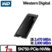 WD 威騰 黑標 SN750 1TB NVMe PCIe SSD固態硬碟