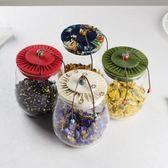 糖罐子 布蓋茶葉罐透明玻璃密封罐竹蓋雜糧罐花茶儲存瓶大小糖果儲物罐子 歐萊爾藝術館