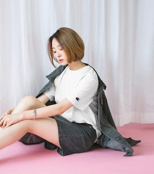《最後降價》原廠正版 Champion 冠軍 美規 袖口刺繡 高磅數 素T 短袖 T恤 【CHT425】