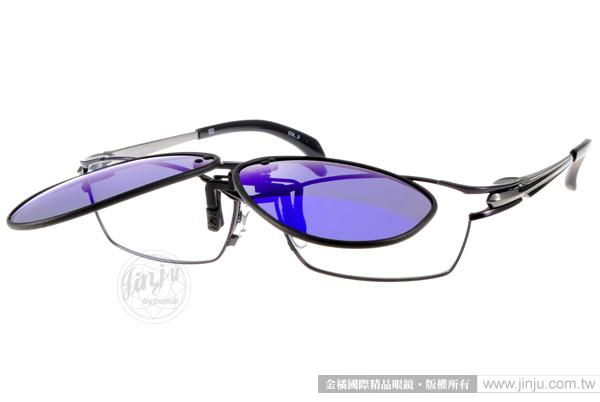 EJING 太陽眼鏡 EJ3026Q (多色) 經典飛行款 偏光前掛片 # 金橘眼鏡