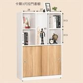 【水晶晶家具/傢俱首選】JM1699-8卡爾3X4.6尺低甲醛防蛀木心板拉門書櫥