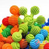 新品 太陽花軟性兒童益智積木拼搭玩具 男女孩思維開發3-6周歲7歲