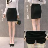 包臀裙 韓版職業半身裙包臀裙顯瘦一步裙短裙工作彈力高腰裙西裝裙女父親節促銷
