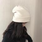 帽子女冬毛線帽秋冬季洋氣保暖雙層針織帽日系百搭雙面護耳堆堆帽 618狂歡