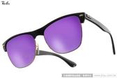 RayBan 太陽眼鏡 RB4175 8771M (金黑-水銀紫) 潮時尚個性眉框水銀鏡面款 # 金橘眼鏡
