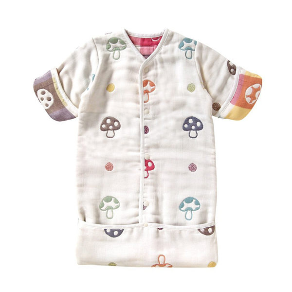 日本 Hoppetta 蘑菇六層紗3WAY包腳睡袍 總公司代理貨