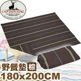 【CAPTAIN STAG 日本 鹿牌 野餐墊 深棕〈180x200CM〉】UP-2521/爬行墊/睡墊/鋁箔墊★滿額送