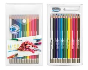 【雄獅】可擦拭色鉛筆12色
