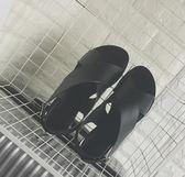2018夏季新款原宿風羅馬涼鞋女韓國學生平底交叉帶涼鞋沙灘鞋潮 挪威森林