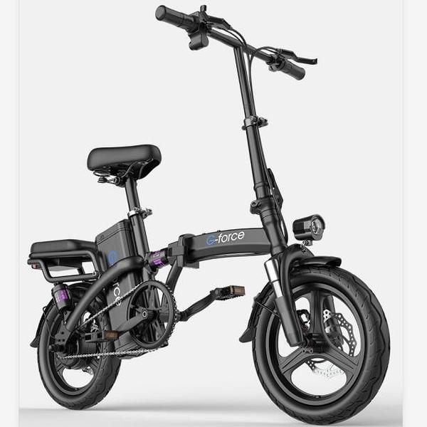 電動自行車美國G-force 折疊電動自行車鋰電池代駕超輕小型助力車電瓶電動車