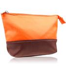 CLARINS 克蘭詩 法式橙氛雙色化妝包(17.5x4.5x12cm)【美麗購】