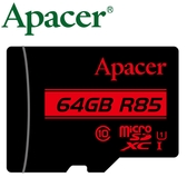 Apacer 宇瞻 64GB 64G 85MB/s microSD microSDXC TF U1 C10 記憶卡