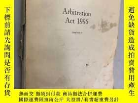 二手書博民逛書店Arbitration罕見Act 1996 1996年仲裁法 無