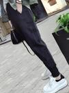春秋運動褲女寬鬆束腳2021新款衛褲顯瘦百搭哈倫褲蘿卜休閒褲子夏 果果輕時尚