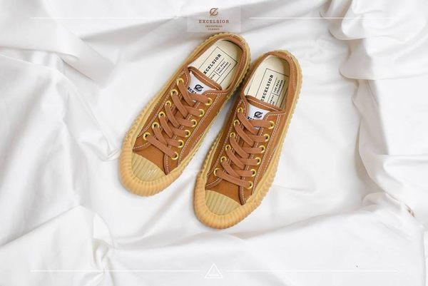 ISNEAKERS EXCELSIOR 餅乾鞋 駝色 花生色帆布鞋 DF_M6017CV_TB 女鞋 韓國限定