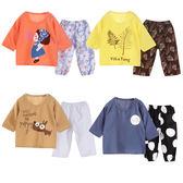 兒童睡衣套裝家居服夏季絲綢棉短袖短褲五分袖薄款空調服 88112
