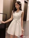 2020夏季新款氣質小個子雪紡短款小清新高腰裙子白色洋裝女夏 俏girl