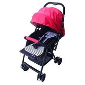 [家事達] Mother's love-C829 加寬版輕量雙向秒縮車 嬰兒推車-紅色 特價 抗UV