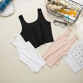 夏季白色冰絲抹胸吊帶小背心外穿防走光內搭裹胸打底衫女內衣薄款 伊衫風尚
