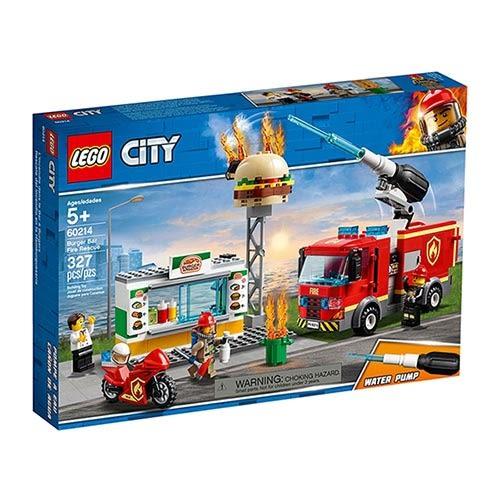 樂高積木LEGO城市系列 - 漢堡餐廳火災救援