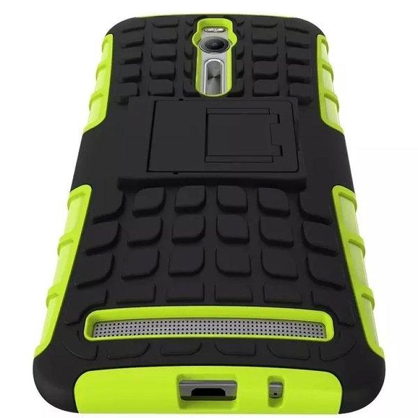 88柑仔店--華碩zenfone2 5.5/ZE551ML輪胎纹手機殼 帶支架防摔殼防滑手機保護套
