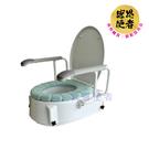 馬桶增高器 - 附舒適衛生坐墊 三段高度調整 扶手可掀 如廁起身更輕鬆 台灣製 [ZHTW2018]