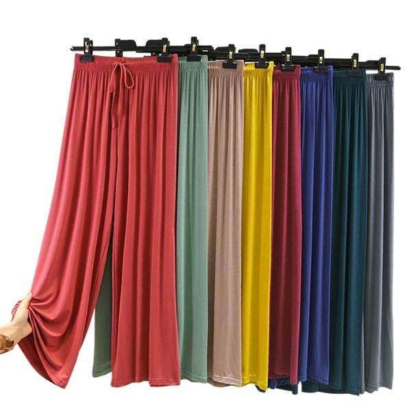 +R387比特闊腿褲# 莫代爾女長褲春夏季薄款寬鬆休閒家居褲外穿可居家睡褲 &小咪的店&