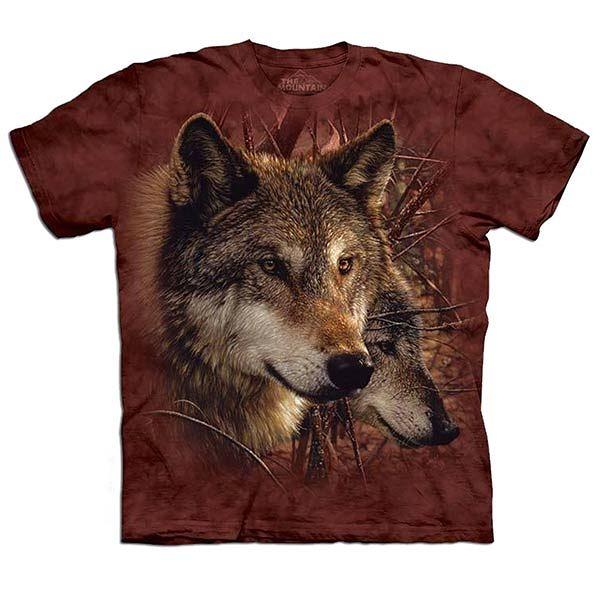 【摩達客】 (預購) 美國進口【The Mountain】自然純棉系列 森林狼 T恤 (10414045194a)