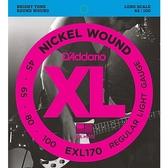 【敦煌樂器】DAddario EXL170 45-100 貝斯弦 四弦
