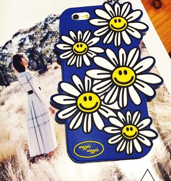 【SZ】iphone 6s 手機殼 立體 韓國 太陽花 笑臉 矽膠 保護套 軟殼 iphone6 plus手機殼