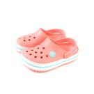 Crocs 涼鞋 休閒鞋 防水 雨天 珊瑚橘 童鞋 204537-7H5 no008